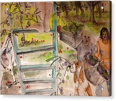 my Apuglia dream album Acrylic Print by Debbi Saccomanno Chan