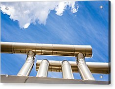 Pipes At Nesjavellir Geothermal Power Acrylic Print by Panoramic Images
