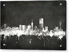 San Francisco City Skyline Acrylic Print