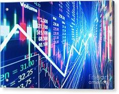 Acrylic Print featuring the photograph Stock Market Concept by Setsiri Silapasuwanchai