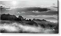 Sunrise And Fog Acrylic Print by Thomas R Fletcher