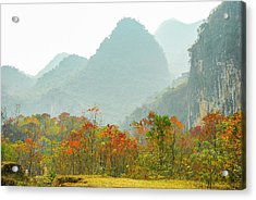 The Colorful Autumn Scenery Acrylic Print