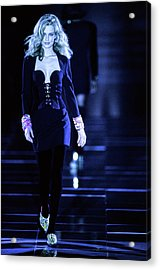 Versace Fall 1991 Rtw Show Acrylic Print by Guy Marineau