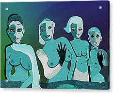 154   Fancy Ladies A Acrylic Print