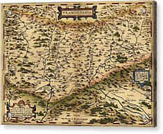 1570 Map Of Transylvania, Now Acrylic Print by Everett