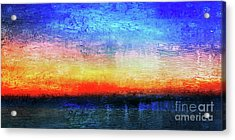 15a Abstract Seascape Sunrise Painting Digital Acrylic Print