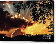 Acrylic Print featuring the photograph Appalachian Sunset by Thomas R Fletcher