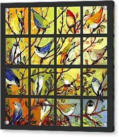 16 Birds Acrylic Print