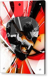 Paul Mccartney Art Acrylic Print by Marvin Blaine