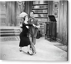Silent Film Still: Dancing Acrylic Print by Granger
