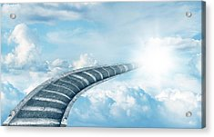 Acrylic Print featuring the digital art Stairway To Heaven by Les Cunliffe