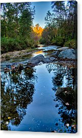 Stone Mountain North Carolina Scenery During Autumn Season Acrylic Print by Alex Grichenko