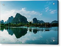 The Karst Mountains And River Scenery Acrylic Print