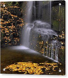 Waterfall Detail Acrylic Print by Stephen  Vecchiotti