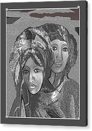 Acrylic Print featuring the digital art 1667 - The Sisters by Irmgard Schoendorf Welch