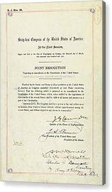 16th Amendment To The U.s. Constitution Acrylic Print