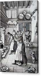 16th Century Kitchen Acrylic Print