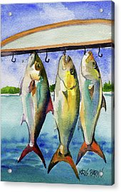 Acrylic Print featuring the painting Amber Jack by Kris Parins