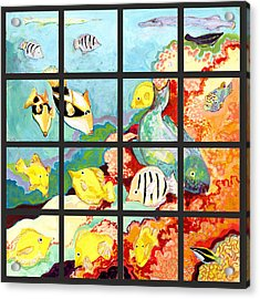 17 Fish Acrylic Print