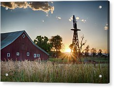 17 Mile House Farm - Sunset Acrylic Print