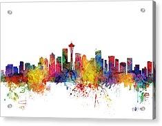 Seattle Washington Skyline Acrylic Print