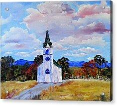 #17 St. Johns Historic Church On Hwy 69 Acrylic Print