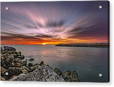 Sunst Over The Ocean Acrylic Print