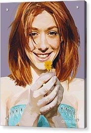 171. And I Think I'm Kinda Gay Acrylic Print by Tam Hazlewood