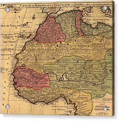 1742 French Map Of Northwest Africa Acrylic Print by Everett