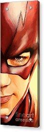 176. Barry. Acrylic Print by Tam Hazlewood