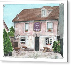 Acrylic Print featuring the painting 1775 Cafe De La Place by Betsy Hackett