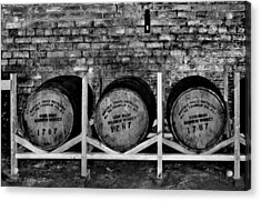 1787 Whiskey Barrels Acrylic Print by Tara Potts