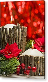 Acrylic Print featuring the photograph Autumn Candles by Ulrich Schade