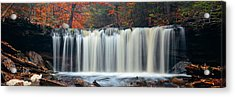 Acrylic Print featuring the photograph Autumn Waterfalls by Songquan Deng