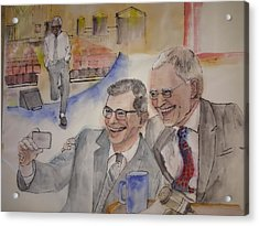Going To Bed With Letterman  Album  Acrylic Print by Debbi Saccomanno Chan