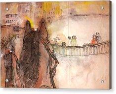 Il Palio Story Album Acrylic Print by Debbi Saccomanno Chan