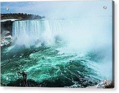 Niagara Falls Scenery In Winter Acrylic Print