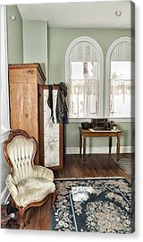 1800 Closet And Chair Acrylic Print by Linda Constant