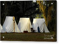 1800s Army Tents Acrylic Print by David Lee Thompson