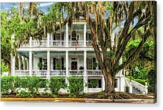 Acrylic Print featuring the photograph 1820 Historic Bed And Breakfast South Carolina  -  013-6178 by Frank J Benz