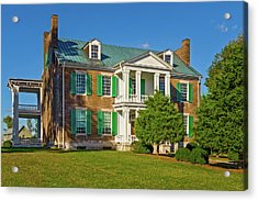 1826 Carnton Plantation Mansion - Cartonplantationmuseum137227 Acrylic Print