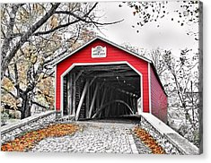 Acrylic Print featuring the photograph 1839 Kreidersville Bridge by DJ Florek