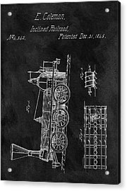 1845 Railroad Patent Acrylic Print by Dan Sproul