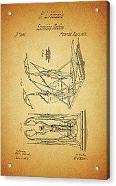 1853 Exercising Machine Patent Acrylic Print