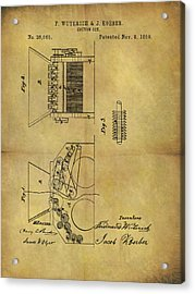 1859 Cotton Gin Patent Acrylic Print