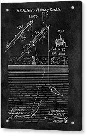 1868 Fishing Rod Patent Acrylic Print