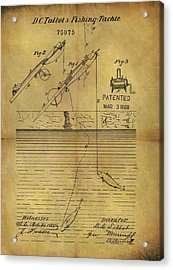 1868 Fishing Tackle Patent Acrylic Print