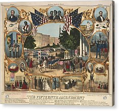 1870 Print Illustrating The Rights Acrylic Print by Everett