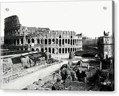 Acrylic Print featuring the photograph 1870 The Colosseum Of Rome Italy by Historic Image