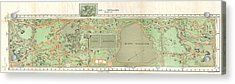 1870 Vaux And Olmstead Map Of Central Park New York City Acrylic Print